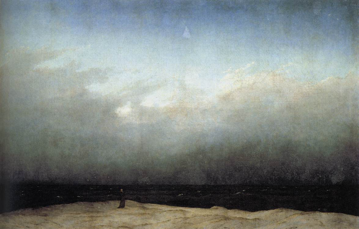 'Monk by the Sea' by Caspar David Friedrich