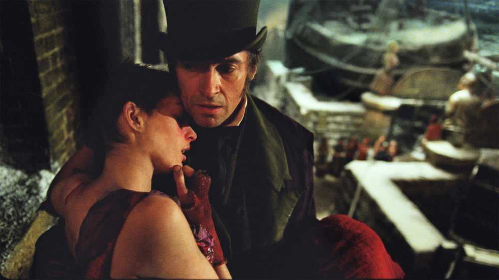 From the movie: Valjean the ex-convict rescues Fantine from a brothel