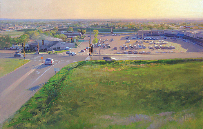 Paradise, Paved: An Oil Painter's Exploration of the Suburbs