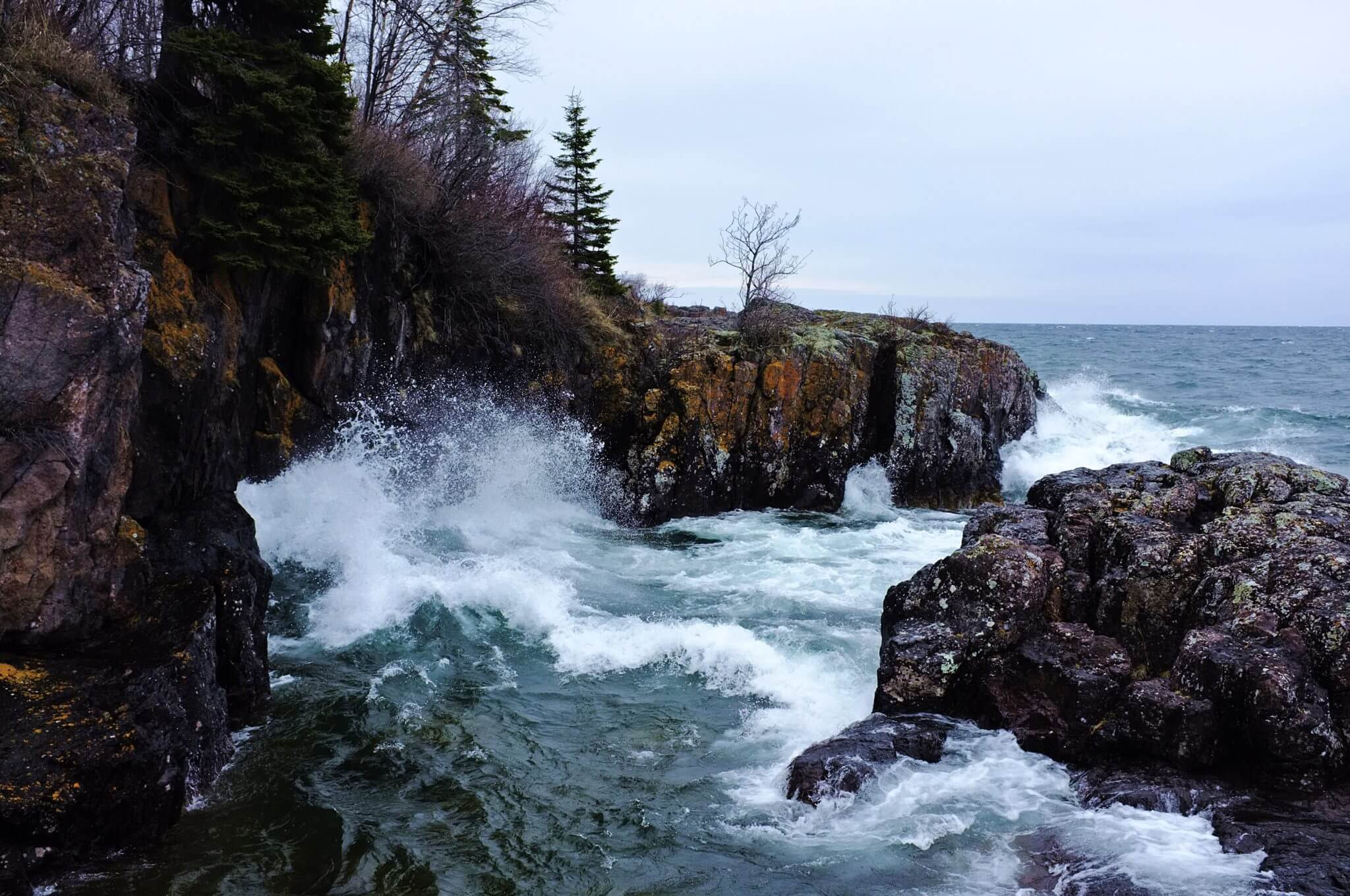 Cove near the mouth of the Temperance river