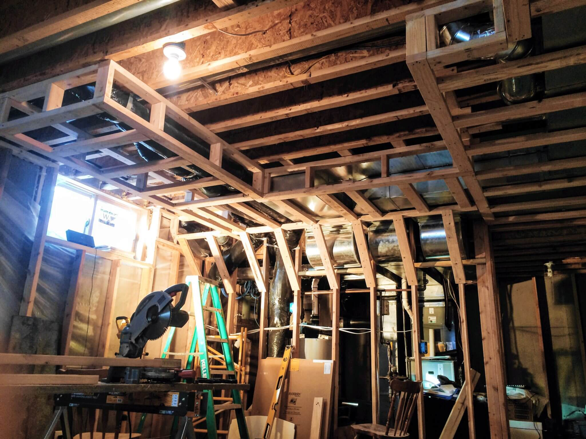 Some of the more complicated soffit framing